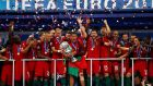 Portugal were crowned kings of Europe after beating France 1-0 after extra time at the Stade de France. Photograph: Reuters/Kai Pfaffenbach