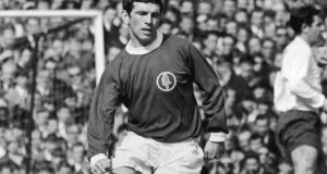 John Giles in action for Leeds on April 19th, 1968. Photograph: Mike McLaren/Central Press/Hulton Archive/Getty Images