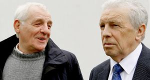 Eamon Dunphy with John Giles at the RTÉ's Euro 2012 launch. Photograph: INPHO/James Crombie