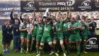Connacht begin the defence of their Pro 12 title at home to Glasgow Warriors. Photograpg: Getty