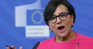 """With new privacy protections in place, we are confident the framework will withstand further scrutiny,"" US commerce secretary Penny Pritzker said on Tuesday. Photograph: Olivier Hoslet/EPA"