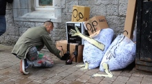 'Art is trash': Galway rubbish transformed into urban art