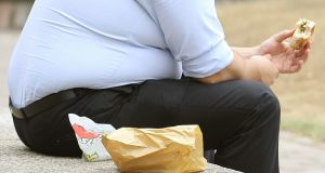 Men who are obese are at much higher risk of premature death than obese women, according to the study of studies published in the Lancet medical journal. Photograph: Dominic Lipinski/PA Wire