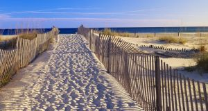 A pathway to the beach at Santa Rosa Island near Pensacola