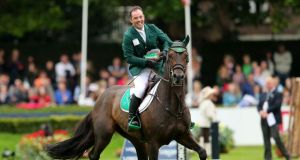 Olympic reserve: Cian O'Connor on Good Luck at the 2015 Dublin Horse Show. Photograph: Ryan Byrne/Inpho