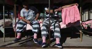 Tent City: Joe Arpaio forces inmates to wear pink underwear. Photograph: John Moore/Getty