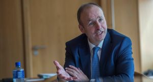 Fianna Fáil leader Micheál Martin: 'The national need comes first and we are clear that we don't need further instability now in terms of the Government preparing itself for the negotiations on Brexit.' Photograph: Brenda Fitzsimons