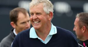 Colin Montgomerie: completed his final round at British Open in Royal Troon in just two hours 50 minutes and 45 seconds. Photograph: Peter Byrne/PA