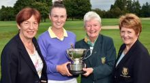 Julie McCarthy from Forrest Little, winner of the Irish Girls Close Championship at Kilkenny Golf Club.