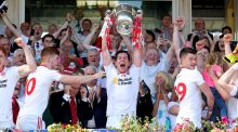 "Tyrone captain Seán Cavanagh: ""We became men today . . . we have been knocking at the door in Ulster for the past few years but got no breaks."" Photograph:  Andrew Paton/Presseye/Inpho"