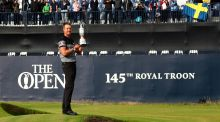 Henrik Stenson lifted the Claret Jug in thrilling fashion on Sunday night but viewing figures were down 75 per cent on the previous year. Photograph: Getty