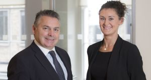 Helen O'Reilly with Colliers MD Declan Stone