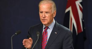 US vice-president Joe Biden speaking in Australia on Tuesday. In 1987, the then Delaware senator was accused of plagiarising a speech by British Labour Party leader Neil Kinnock, a huge embarrassment that helped scupper his presidential campaign. Photograph: William West/AFP/Getty Images