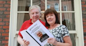 Atheist Ireland has launched a report in which it says the State's religious education course is breaching human and Constitutional rights. Pictured at the publication were Michael Nugent, chair of Atheist Ireland, and Jane Donnelly. Photograph: Nick Bradshaw