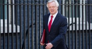 UK Brexit minister David Davis: the preliminary finding by the influential European Court of Justice  is in response to a legal challenge brought by Mr Davis. Photograph: Jason Alden/Bloomberg