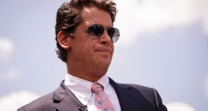 Milo Yiannopoulos, a conservative columnist and internet personality, who has been banned from Twitter. Photograph: Drew Angerer/Getty Images