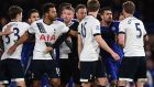 Last season's league clash between Chelsea and Tottenham Hotspur at Stamford Bridge ended in a touchline melee. Photograph: Getty