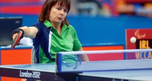 Rena McCarron Rooney won a silver medal at the European Para table tennis championships in 2015. Photograph: Jeff Crow/Inpho