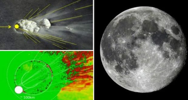 Eye of man in the moon a result of massive asteroid impact
