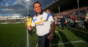 Clare manager Davy Fitzgerald may miss his side's All-Ireland quarter-final clash with Galway due to undergoing tests in hospital after feeling ill. Photo: Inpho