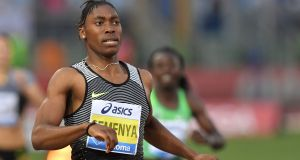 South Africa's 800m runner Caster Semenya is vowing to win an Olympic gold medal in Rio. Photograph: Getty.