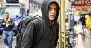 A beleaguered genius or  a self-satisfied comment section hit by lightning and come to life? Rami Malek in Mr Robot. Photograph: Amazon Instant Video