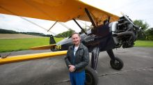 Jim Gavin with the 72-year-old biplane he will be flying at the Bray Air Display. Photograph: Nick Bradshaw/Inpho