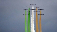Why are these Italian jets forming a tricolour over Dublin city centre?