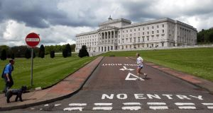 Stormont in Belfast. The North's economy is massively dependent on transfers from London amounting to around 30% of its income. Photograph: Paul Faith
