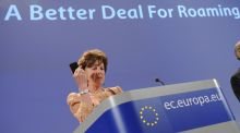 The EU announces cuts to roaming rates. Photograph: Getty