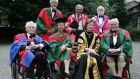 Recipients of honorary degrees at Trinity College in 2009: seated from left are Patrick Scott, Prof Janet Browne, Chancellor Mary Robinson and Prof Sir Fraser Stoddart. Standing from left are Provost Dr John Hegarty, Prof Amartya Sen  and Robert Dunbar. Photograph: Cyril Byrne