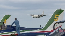 Italian aerobatics team touch down ahead of Bray Air Show