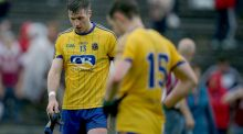 Roscommon's Cathal Cregg and Ciaran Murtagh dejected after the Connacht final defeat. Photograph: Tommy Dickson/Inpho