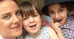 Rosie Murphy with Ruby and Jess: my children can now play with their cousins