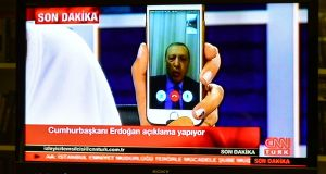 Turkish president Recep Tayyip Erdogan: urged people to resist the coup via social media.   Photograph: Burak Kara/Getty Images