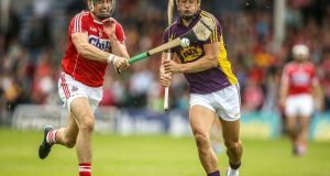 Wexford's  Lee Chin  who scored four points in his side's clash with Cork two weeks ago. Photograph: Cathal Noonan/Inpho