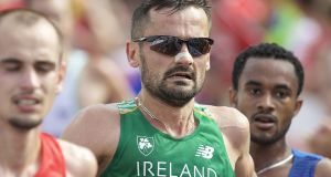 A last-ditch effort by Irish marathon runner Sergiu Ciobanu to get a place at the Rio Olympics has failed, the Court of Arbitration for Sport (CAS) dismissing his appeal against the selection policy of Athletics Ireland. Photo: Inpho