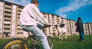 Ballymun: on the estate in 1996; the last high-rise was demolished in 2015. Photograph: Jeremy Sutton-Hibbert/Rex