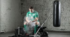 Robbie Henshaw is hopeful of recovering from injury and being fit to play with Ireland again for the historic meeting with the All Blacks at Soldier Field, Chicago, in November. Photograph: Dan Sheridan/Inpho.