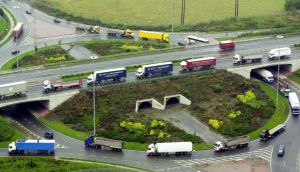 Hauliers on the M50. Photograph: Alan Betson