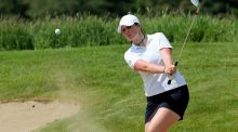 Olivia Mehaffey is in fourth place after three days of the European Ladies Amateur Championship in Sweden. Photo: Inpho
