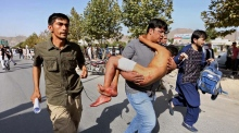 Several people killed by suicide bombers at Kabul demonstration