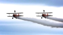 Spectacular scenes in the skies at Bray Air Display