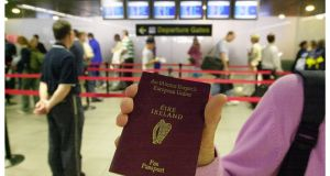 Currently no passport applications can be processed online with the majority being made by post. Photograph: Alan Betson/The Irish Times