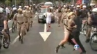 Man tackled as he tries to grab Olympic torch during relay