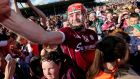 Galway's Joe Canning with fans at the end of the game in Thurles. Photograph: Donall Farmer/Inpho