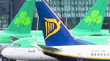 Ryanair was one of the biggest gainers among European equities, rallying 6.1 per cent on Monday after maintaining its full-year profit forecast. Photograph: Niall Carson/PA Wire