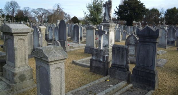 The establishment of garden cemeteries at Glasnevin (1832), Mount Jerome, above, (1836) and Deansgrange (1865) meant that most funerals required transport, leading to the emergence of the undertaker