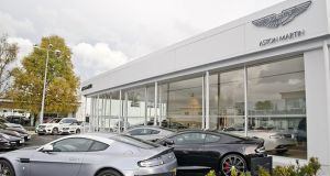 Aston Martin showoom in Belfast