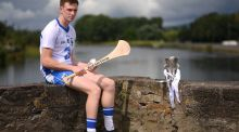 Waterford's Austin Gleeson at  Carrick-on-Suir,  ahead of the Bord Gáis Energy U-21 Munster hurling final against Tipperary.  Photograph:  Stephen McCarthy/Sportsfile